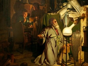 The Alchemist Discovering Phosphorus, by Joseph Wright of Derby